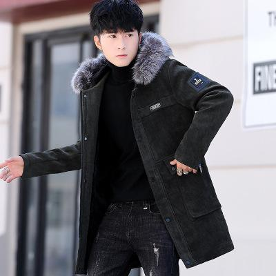 Winter Wool Coat Men Casual...