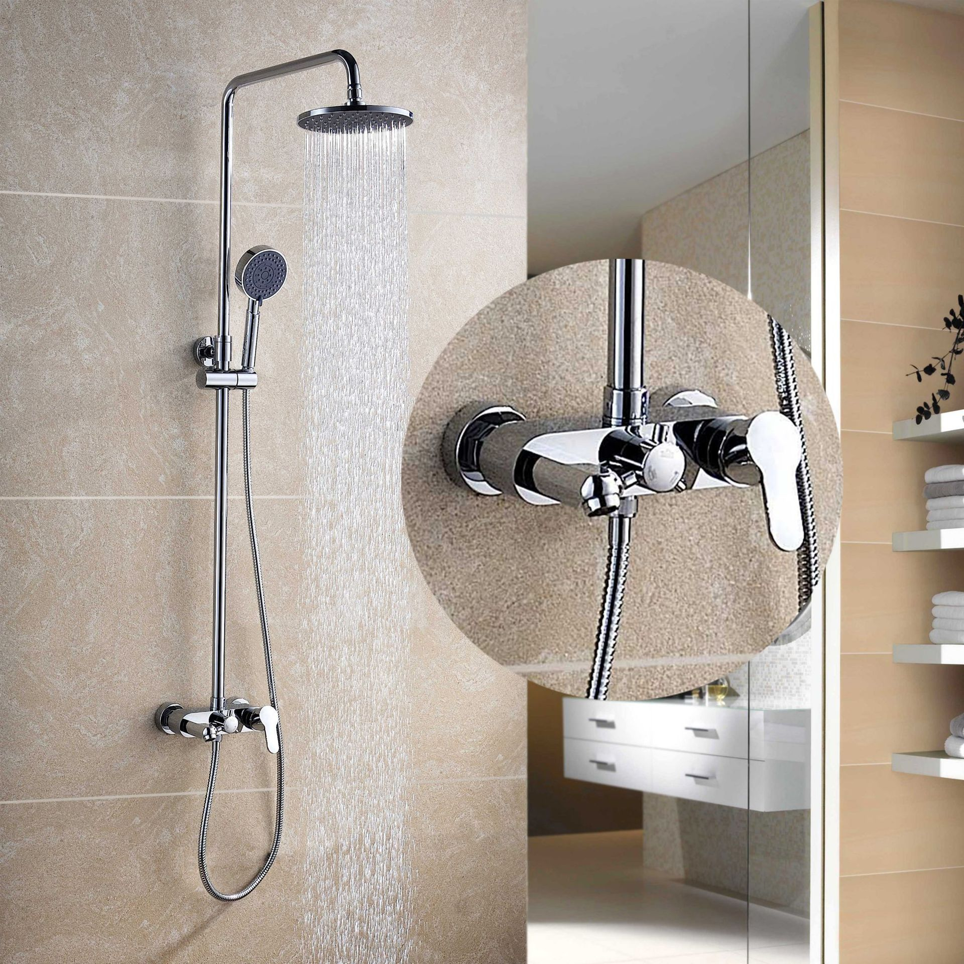 Manufacturers selling all copper lift shower hot and cold shower set DS33011 supercharged shower faucetManufacturers selling all copper lift shower hot and cold shower set DS33011 supercharged shower faucet