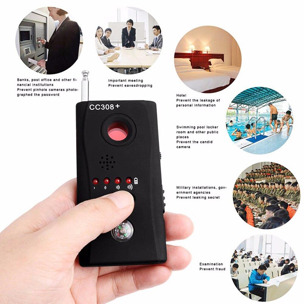 Livraison gratuite Multi sans fil Radio onde Signal RF GSM dispositif espion sténopé caméra cachée lentille capteur Scanner détecteur détecteur CC308