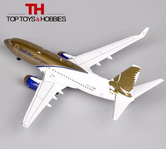 16 cm Modelo de A Bordo 200 1:200 Gulf Air Boeing 737-700 Aviones Avión HB-IIO Ornamento Limitada Diecast modelo de Avión modelos