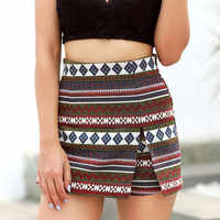 Womail Women pants Shorts Bohemian Printting Beach Ladies Summer Pants Trousers Casual Short Pant Daily denim color dropship j23