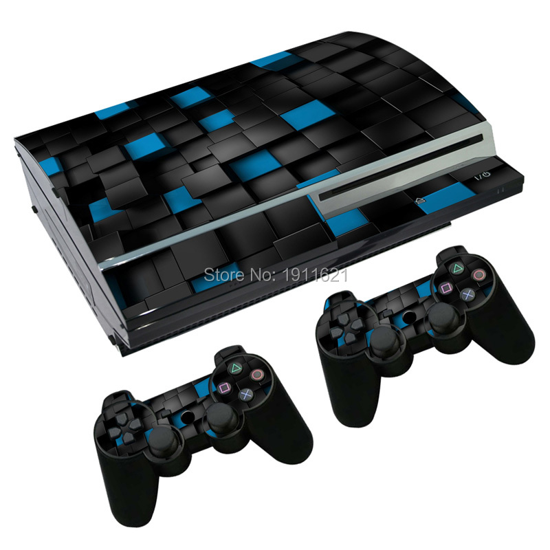 2016 1 set  skin Slim Game Decal Skin Stickers For Playstation 3 Console 2Pcs Stickers For PS3 Controller