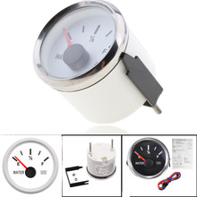 52mm Waterproof Marine Water Level Gauge 0-190ohm Stainless Steel Boat Tank Indicator Dinghy Accessories 9-32V