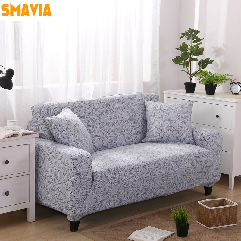 Smavia Gray All Inclusive Sofa Cover Elasticity Stretch Couch Single Love Seat Recliner Decor Easy Install Slipcovers 1 Pc In From Home