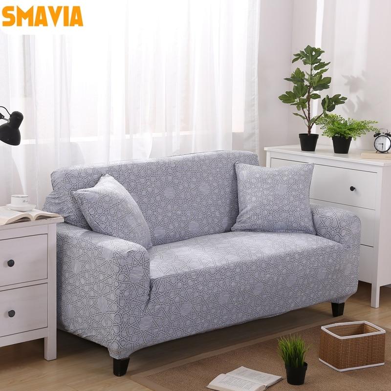 SMAVIA Gray All inclusive Sofa Cover Elasticity Stretch Couch Cover ...