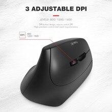 HAVIT 2.4GHz Wireless USB Receiver Ergonomic Optical Vertical Mouse for PC Laptop Desktop 3 DPI 800 1200 1600 HV-MS55GT