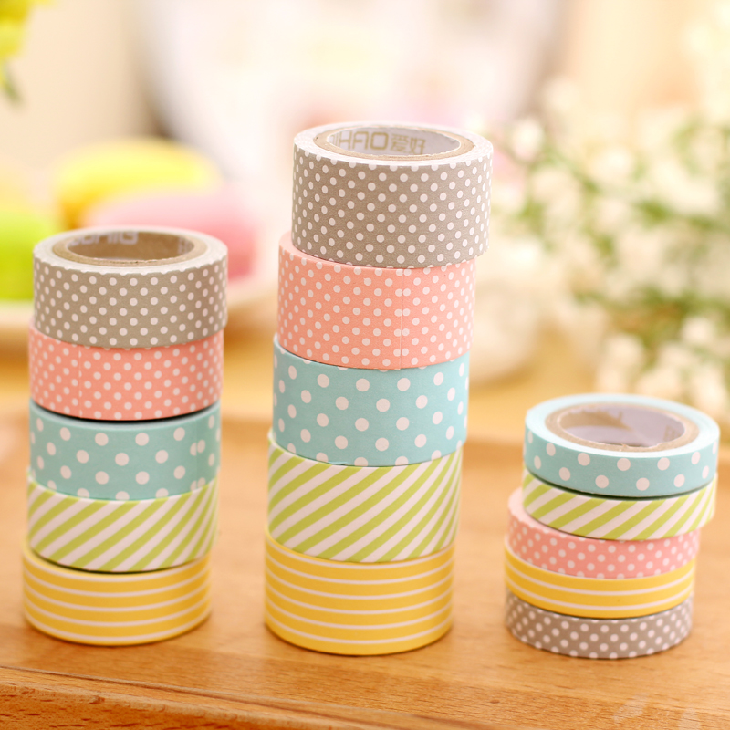 Free shipping Multicolour paper tape handmade diy decoration tape label paper tape paper photo album diary decor masking tape kitmmm6200341296pac103620 value kit pacon riverside construction paper pac103620 and highland invisible permanent mending tape mmm6200341296