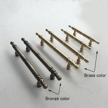 2.5 3.75 5'' 6.3 Brass Dresser Handles Drawer Pulls Handle Knobs Door Pull Knob Wardrobe Kitchen Cabinet Handles Hardware cabinet drawer handles and knob tatami wardrobe hardware pulls retro bird single hole handle and pull pens