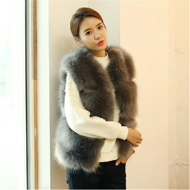 Popular Faux Fur Coat Grey and White-Buy Cheap Faux Fur Coat Grey ...