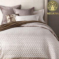 Medusa 2018 bamboo fashion washed silk bedspread grey ,hot pink king queen twin size
