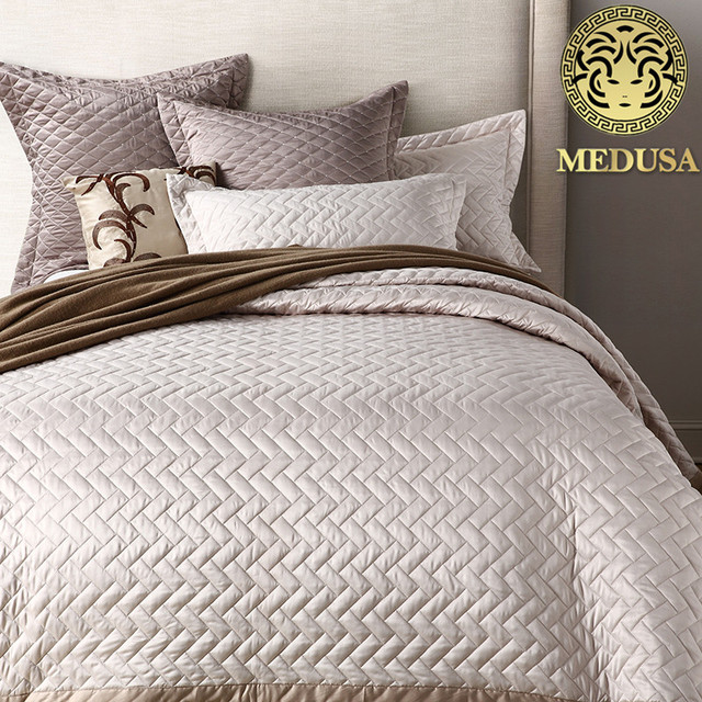 taille couvre lit Medusa 2018 bambou de mode lavé soie couvre lit gris, chaude rose  taille couvre lit