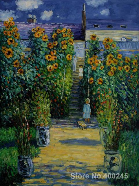 Canvas Art online Claude Monet Paintings Artists Garden at Vetheuil ...