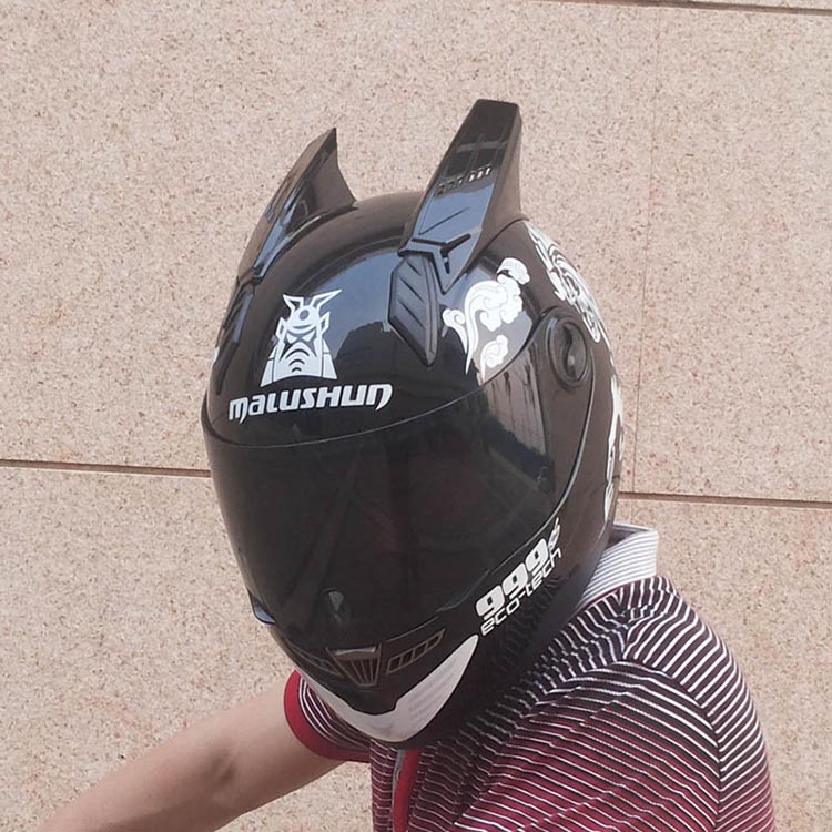 2017 The Latest Malushun Motorcycle Helmet The Four Seasons Full Face Helmet Horns Helmet Motorcycle Accessories & Parts Automobiles & Motorcycles