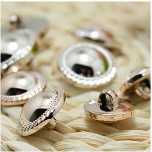 High-grade plastic plating rose gold wire drawing side convex hand sewing coat decorative buttons wholesale 300pcs/lot