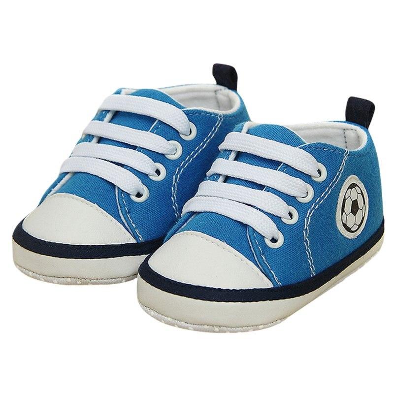 0-18 Month Unisex Kids Baby Soft Soled Crib Shoe Laces Up Sneakers Walking Prewalker