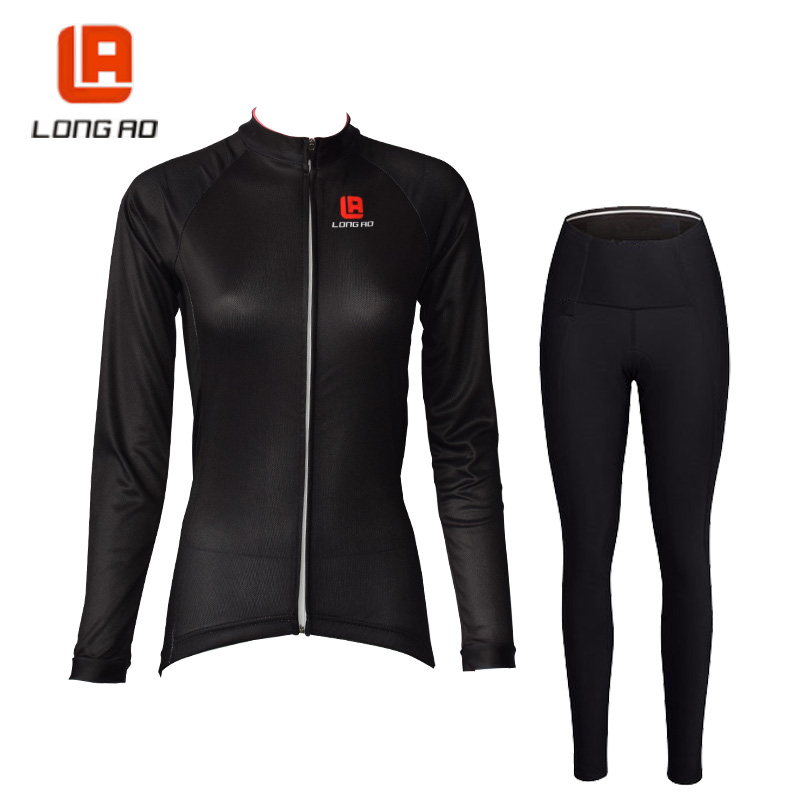 LONG AO Cycling clothes women Cycling jersey Long sleeve bike set Thrasher clothing Roupa ciclismo Cheji women Clothes cycling