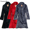Autumn and winter teenage male Women red coral fleece robe bathrobes