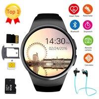 Умные часы для мужчин и женщин с полным экраном Bluetooth спортивные часы монитор сердечного ритма умные часы для фитнеса поддержка sim карты KW18