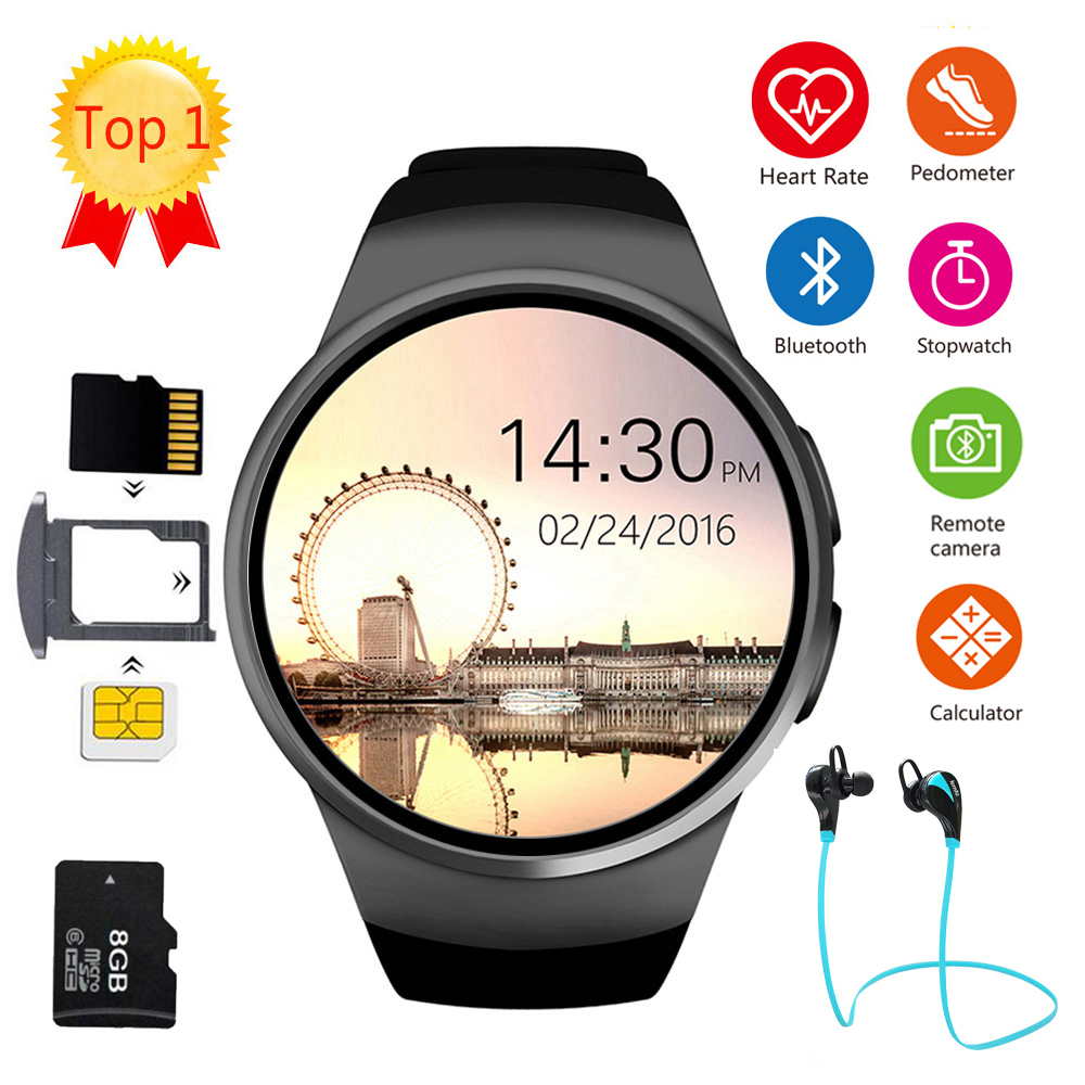 Smart Watch Men Women Full Screen Bluetooth Sport Watch Heart Rate Monitor Fitness Smartwatch Support SIM Card KW18 ios androidSmart Watch Men Women Full Screen Bluetooth Sport Watch Heart Rate Monitor Fitness Smartwatch Support SIM Card KW18 ios android