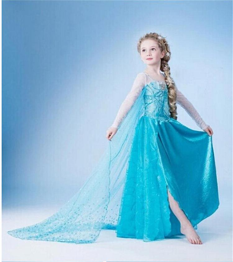 Dresses For Girl Cosplay Menina Kids 2018 Christmas Gift Cinderella Cosplay Costume Party Dress Princess Dress 3-10Years Clothes