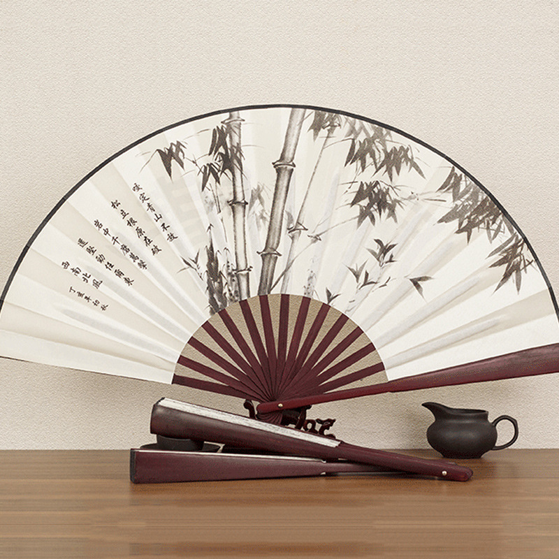 Chinese Style Fan Student 10 Inch Folding Hand Japanese  Folding Portable Eventail A Main Vintage Wedding Favors Gifts Ventagli