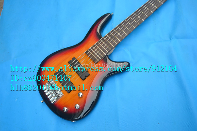 free shipping new 6 strings electric bass guitar in fade with no point mark made in China+foam box F-1242 finish bass guitars electric chinese 5 string bass butterfly bass guitar free shipping made in china