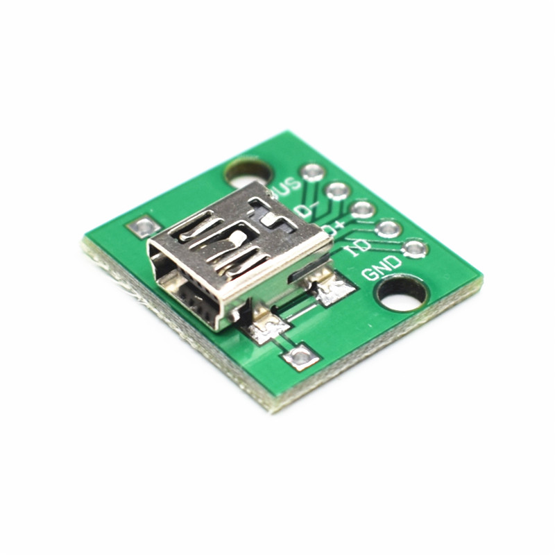 5pcs Female 2.54mm MICRO USB to DIP 5-Pin Pinboard Brand New 10pcs mini micro usb to dip 2 54mm adapter connector module board panel female 5 pin pinboard 2 54mm micro usb pcb type parts