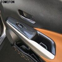 For Nissan Kicks 2016 2017 2018 ABS Chrome Carbon Fiber Paint Car Inner Door Window Switch