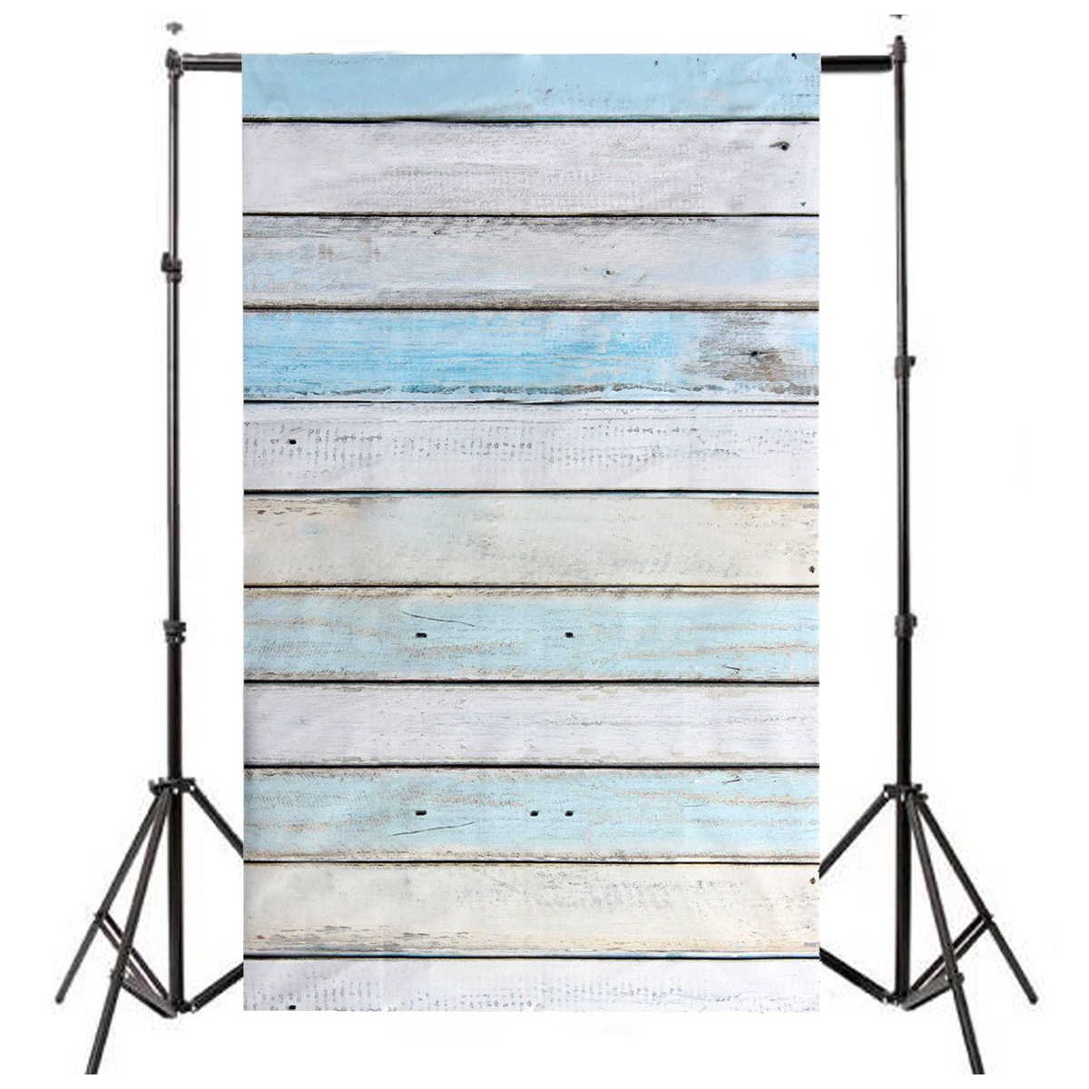 CES 3x5ft Light Blue Wood Wall Floor Backdrop Backgrounds Studio Photography Props