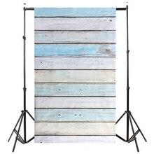 Ces-3x5ft светло-голубой деревянные стены этаж фон Фоны Studio Подставки для фотографий