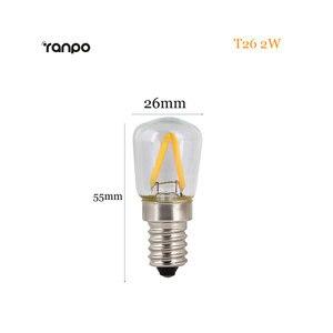 Image 5 - الرجعية اديسون لمبة E14 T20 T25 T26 2 واط 3 واط 4 واط Led مصباح شمعة فتيل إضاءة توفير الطاقة الزجاج لمبة Lampada المنزل الإضاءة