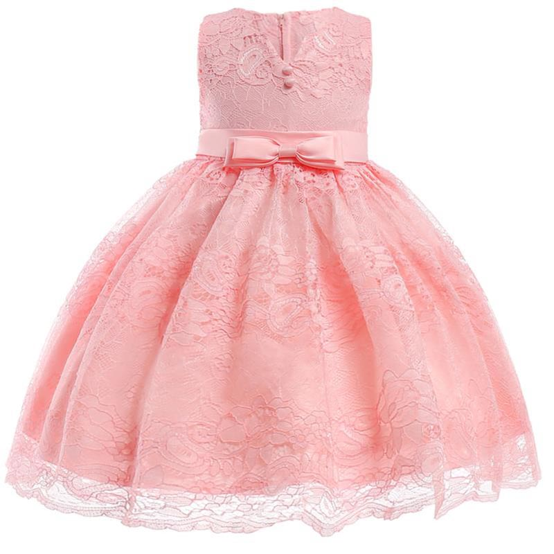 Flower     girl     dresses   first communion   dresses   for   girls   bow for kids children's clothing baby fluffy ball gown costume L5020