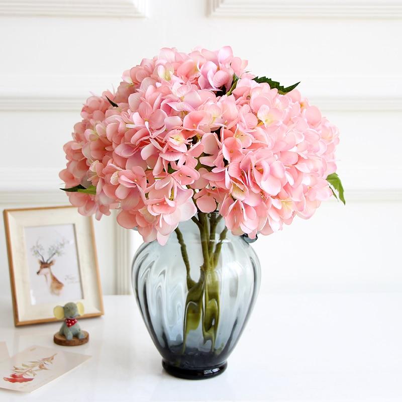 24 unids Pantalla Hortensia Flor Inicio Mesa Decorativa Flor - Para fiestas y celebraciones