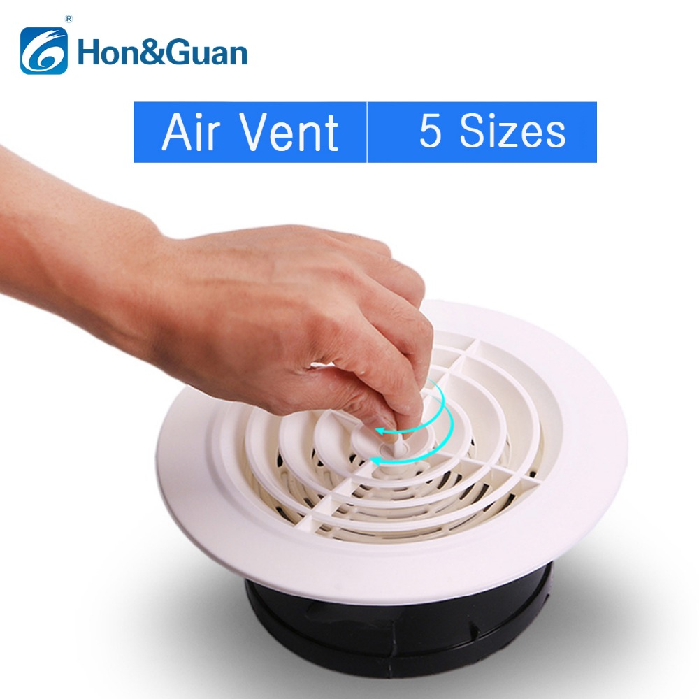 Hon Amp Guan Round Air Vent Abs Louver White Grille Cover