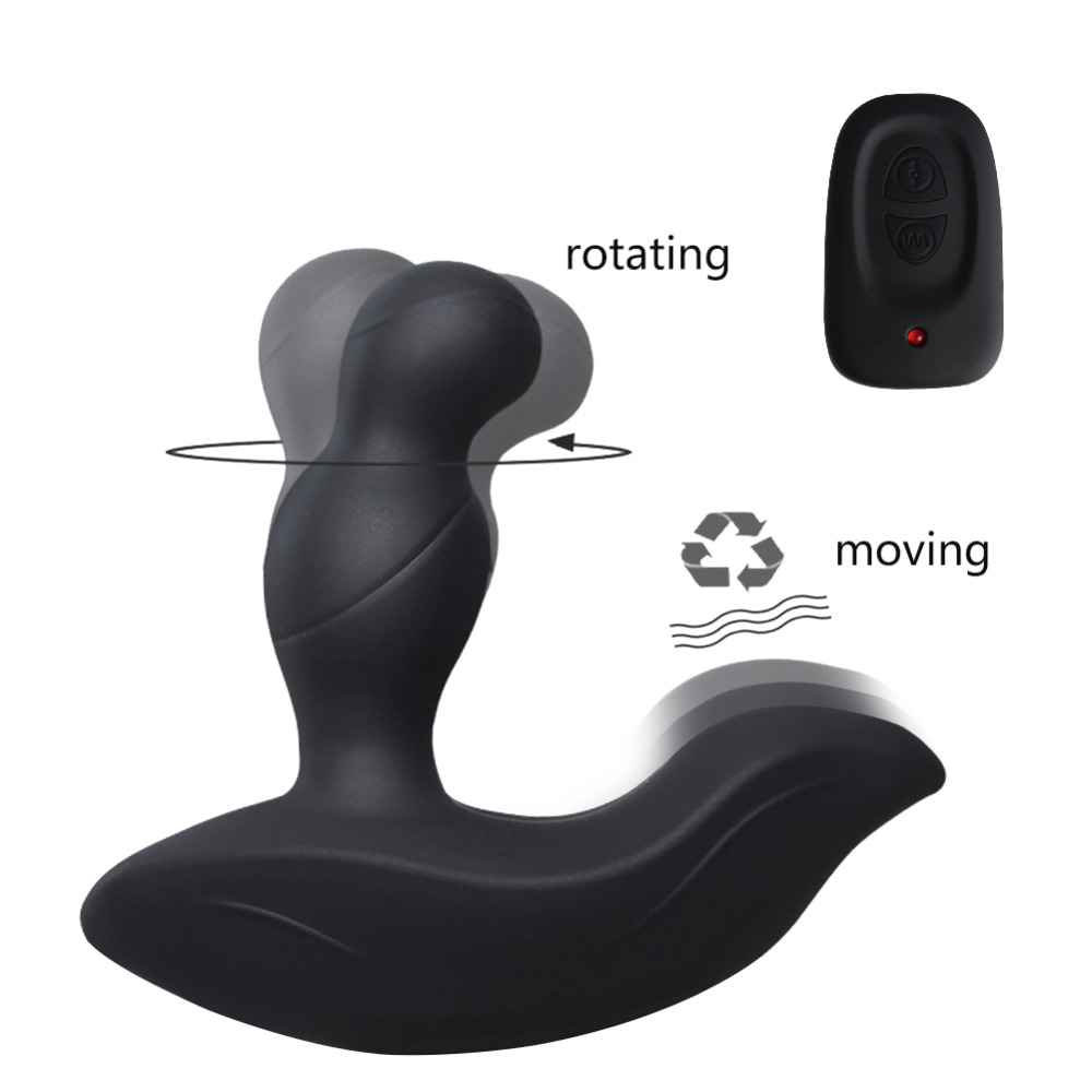 2019 Wholesales Prostate Massager Anal Sex Toys for Men Gay Butt Plug Vibrating Remote Control 3 Rotating + 3 Moving Modes 100PC2019 Wholesales Prostate Massager Anal Sex Toys for Men Gay Butt Plug Vibrating Remote Control 3 Rotating + 3 Moving Modes 100PC