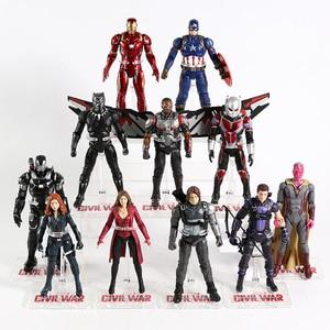 Image 2 - Vendicatori Iron Man Capitan America Ant Man Hulk Spiderman Black Widow Pantera Scarlet Witch Visione Thanos Action Figure Giocattolo