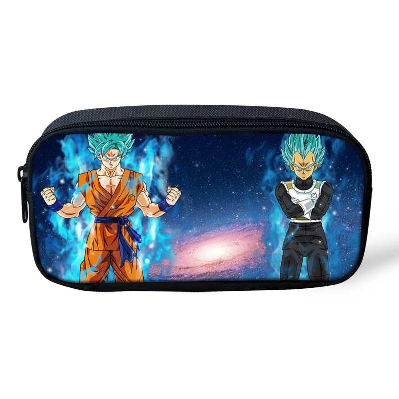 Anak-anak Anak-anak Kartun Dragon Ball/Son Goku Pensil Case untuk Mahasiswa Anak Sekolah Alat Tulis Pensil Kantong Kotak Pena Case perlengkapan