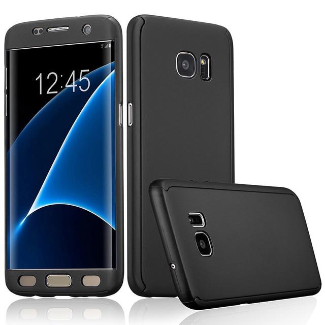 Full Body 360 Case for Samsung Galaxy A5 A7 A3 2017 Phone Case with Screen Protector Fundas for Galaxy A320 A520 A720 Capa Cover