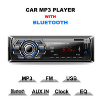 Multifunction Car MP3 Player Car DVD SD Card Reader USB With Bluetooth Detachable Panel FM Tuner
