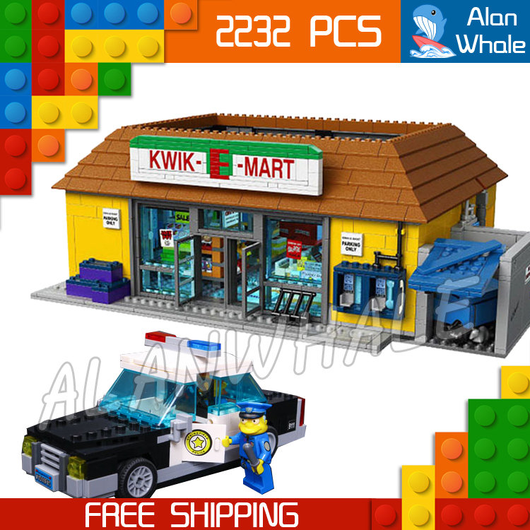 2232pcs New Simpsons the Kwik-E-Mart 16004 DIY Model Building Kit Blocks Gifts Children Toys Compatible with Lego adidas originals by jeremy scott мокасины
