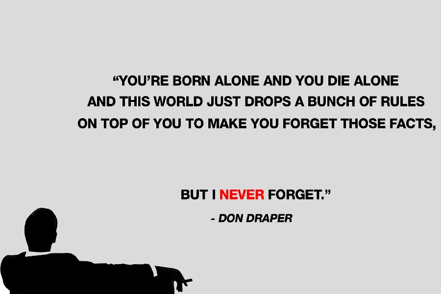 Mad Men-Don Draper,quotes Inspirational Motivational Poster silk ...