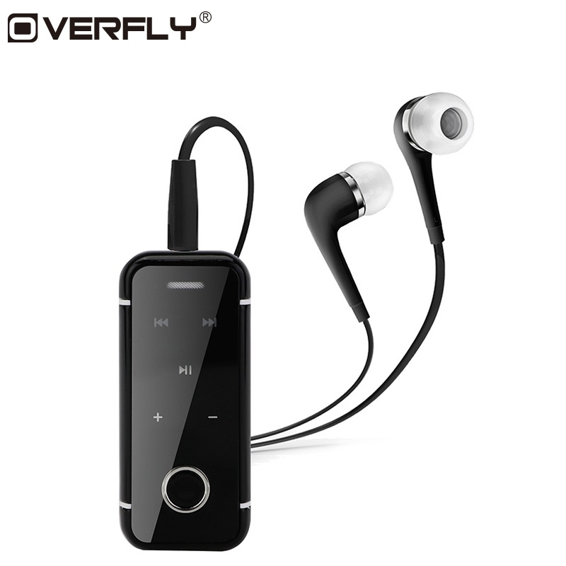 Overfly Wireless Bluetooth Earphone Lavalier Clip On Bluetooth Headphone Hands Free Mic for Sports Stereo i6s Headset