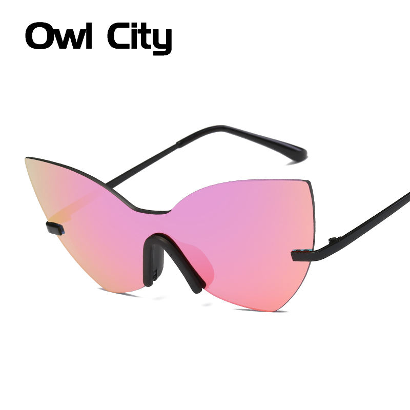 Cat eye Women Sunglasses Vintage Oversize Goggle Glasses Luxury Brand Designer Summer Style Glasses Newest Women Men Eyewear