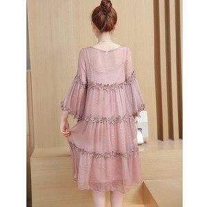 Image 3 - 2PC Sets Lace Maternity Slip Dresses For Pregnant Women Clothes Pregnancy Sling Dress Suits Maternity Vestidos Pregnant Dress