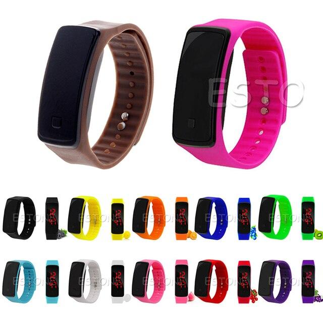 db1069e3e56 Pulseira de Silicone Banda Digital LED relógio de Pulso das mulheres Dos  Homens Sports Correndo Relógios