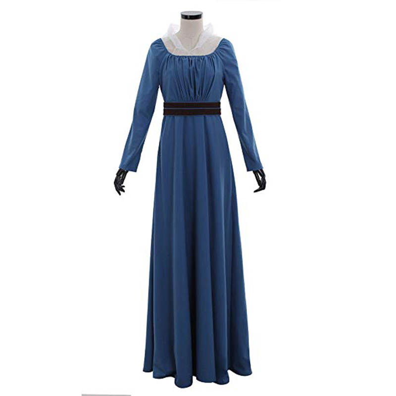 Cosplaydiy Medieval Renascentista vestido Feito Sob Encomenda Azul Mulheres Vestido Adulto Vestido Vitoriano Vestido L320