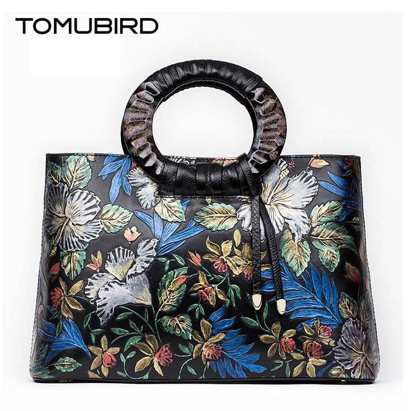 Cow leather handbag  free delivery  2016 new handbag painting National Wind shoulder Messenger Bag Royal package free delivery cow leather handbag 2017 autumn and winter new leather messenger bag shoulder bags chain bag small square package