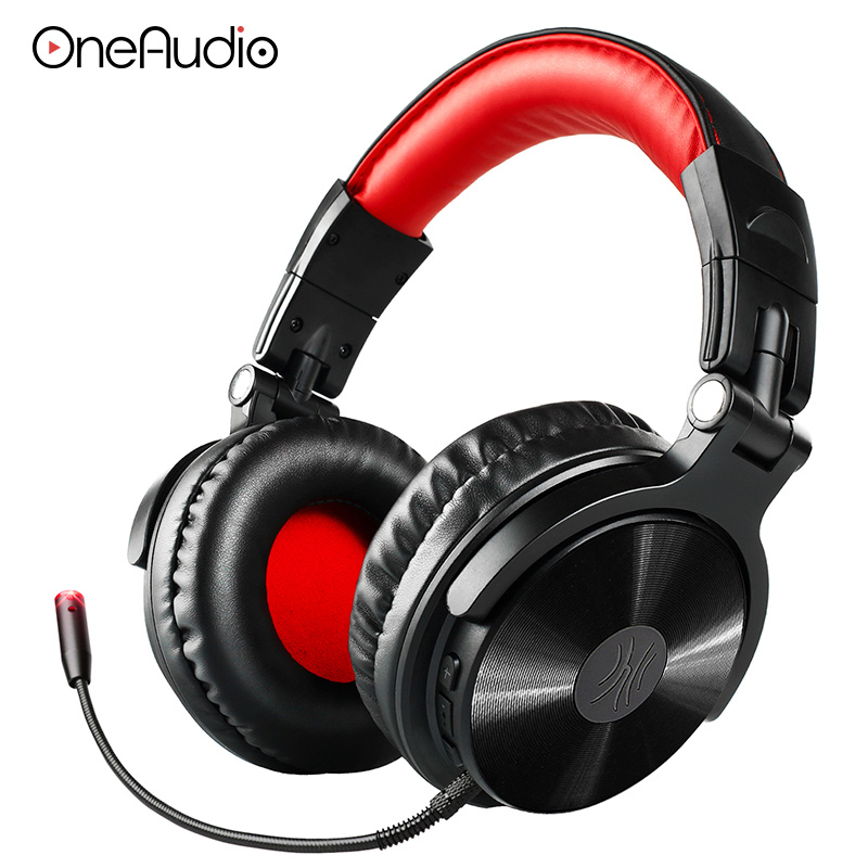 OneAudio Wireless Bluetooth 4.1 Headphone With Extended Mic Foldable Over Ear Gaming Headset Wireless Earphone For iPhone Xiaomi boas over ear bluetooth headphone wireless rotary stereo comfortable handfree headset aux earphone with mic for iphone xiaomi pc