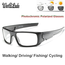 WarBLade Photochromic Sunglasses Men Car Driving Goggles Polarized Sun Glasses Outdoor
