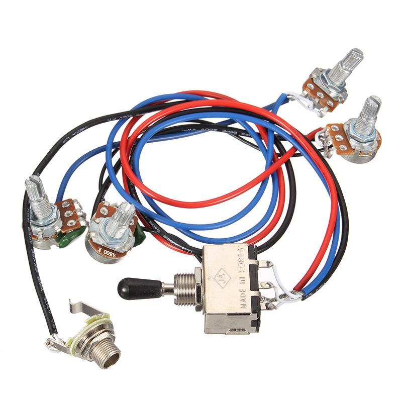 HTB1EzynQFXXXXbNXFXXq6xXFXXX7 wiring harness 2v 2t 3 way toggle switch 500k pots for guitar dual Three-Way Toggle Switch Wiring at alyssarenee.co